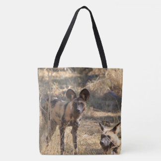 Wild Dogs (two different photos) Tote Bag