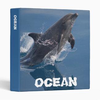 Wild dolphin 3 ring binder