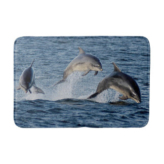 Wild Dolphins Leaping Photograph Scotland Highland Bath Mat