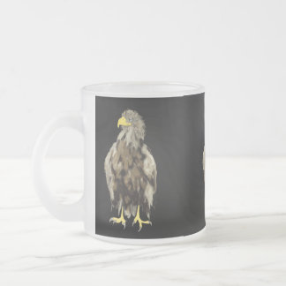 Wild Eagle Frosted Glass Mug