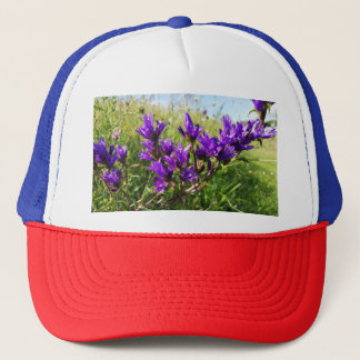 Wild elegant purple flower trucker hat