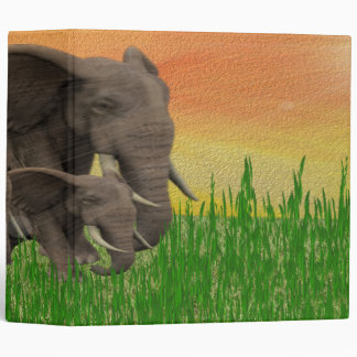 WILD ELEPHANT AVERY BINDER
