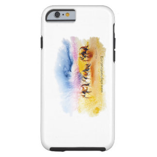 Wild Elephant Herd design Tough iPhone 6 Case