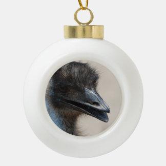 Wild Emu Ceramic Ball Christmas Ornament