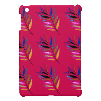 Wild ethno leaves /  feathers textile edition cover for the iPad mini