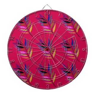 Wild ethno leaves /  feathers textile edition dartboard
