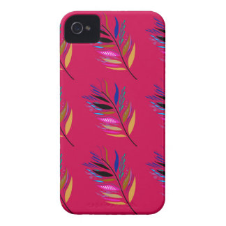 Wild ethno leaves /  feathers textile edition iPhone 4 cover