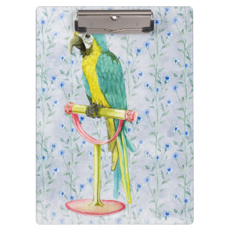 Wild Exotic Colorful Bird Clipboard
