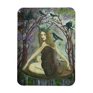 Wild Fauna Witch Art Magnet
