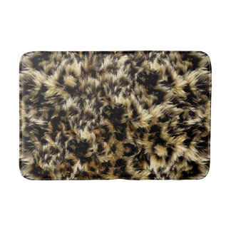 Wild Faux Fur Leopard Style Camo Print Bath Mat