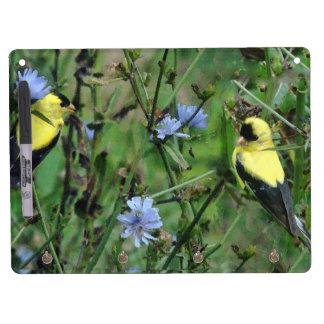 Wild Finch Birds Wildlife Animals Dry Erase Board