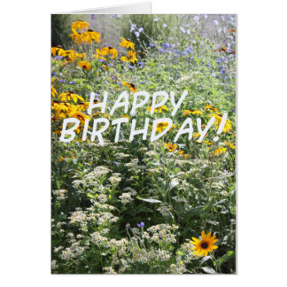 Wild Flower Birthday Card