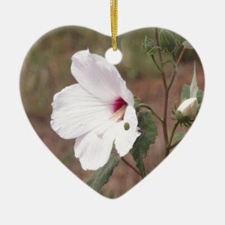 Wild flower ceramic heart ornament