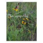 Wild flower field sympathy card