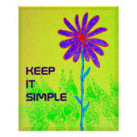 Wild Flower Keep It Simple poster