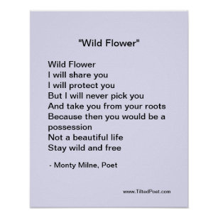 Wild Flower - poetry poster