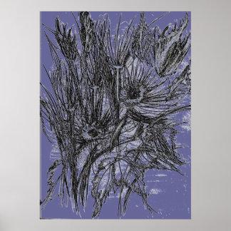 Wild Flower Sketch Poster