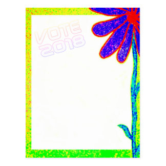 Wild Flower VOTE 2018 postcard