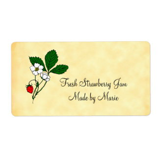 Wild Flowering Strawberry Custom Shipping Label