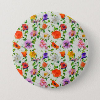 Wild Flowers 3 Inch Round Button