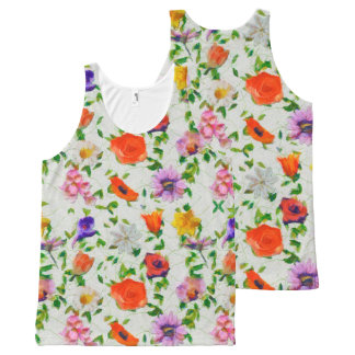 Wild Flowers All-Over-Print Tank Top