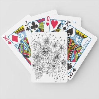 Wild Flowers Bicycle Playing Cards