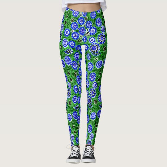 """Wild"" Flowers (Blue) - Leggings"