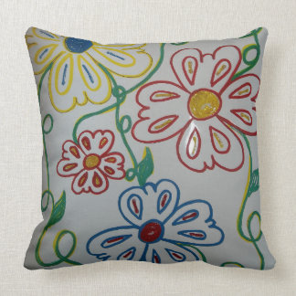 Wild Flowers by Lina Throw Pillow