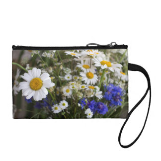 Wild flowers coin purse