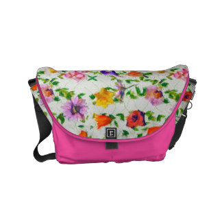 Wild Flowers Courier Bag