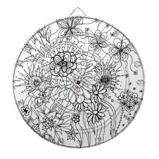 Wild Flowers Dartboard