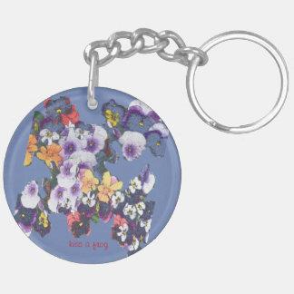 Wild Flowers Double-Sided Round Acrylic Keychain