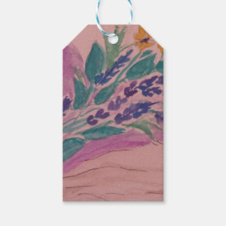wild flowers gift tags