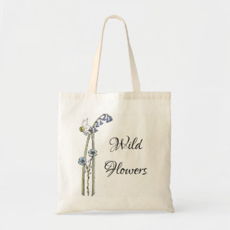Wild Flowers hand painted Tote Bag
