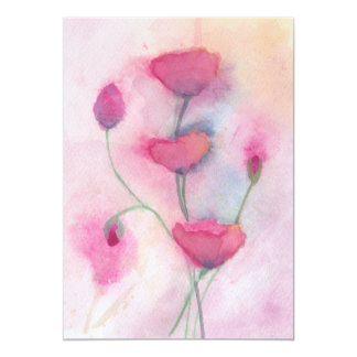 Wild flowers 13 cm x 18 cm invitation card