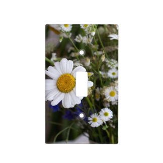 Wild flowers light switch cover