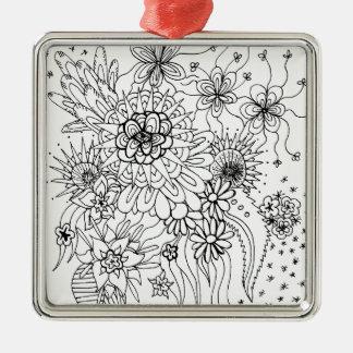 Wild Flowers Metal Ornament