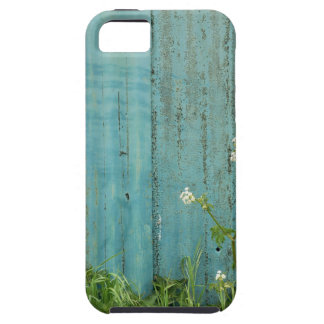wild flowers nature blue paint fence texture case for the iPhone 5