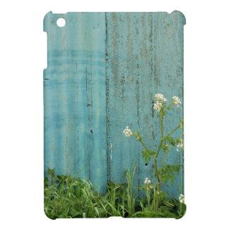 wild flowers nature blue paint fence texture iPad mini case