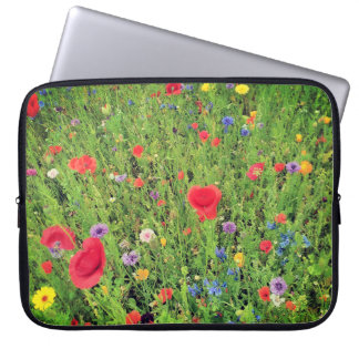 Wild Flowers Neoprene Laptop Sleeve 15""