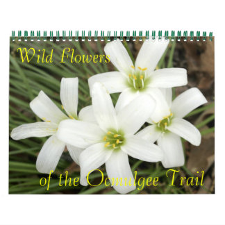 Wild Flowers, of the Ocmulgee Trail Calendar