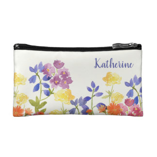 Wild Flowers Personalised Colourful Cosmetics Bag