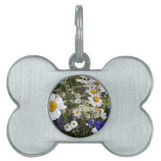 Wild flowers pet name tag