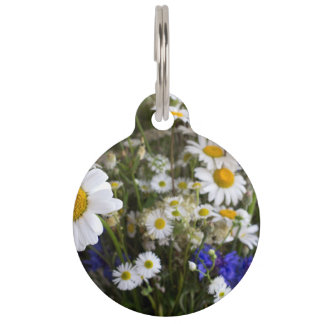 Wild flowers pet tag