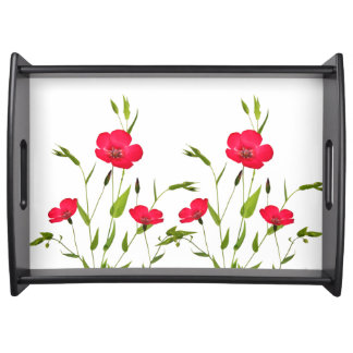 wild flowers serving tray