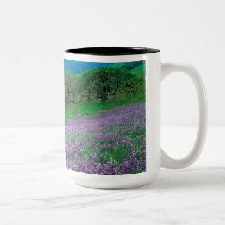 Wild Flowers Two-Tone Coffee Mug