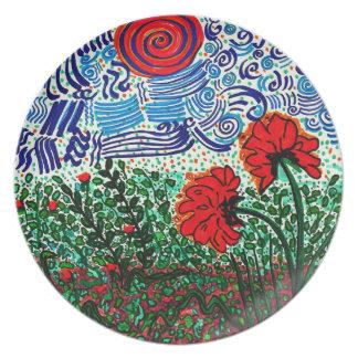Wild Flowers Wild Sky Plate