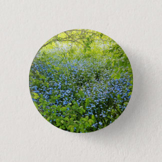 Wild forge me nots flowers photo 1 inch round button