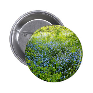 Wild forge me nots flowers photo 2 inch round button