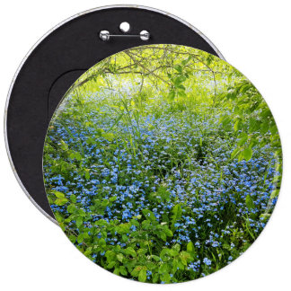 Wild forge me nots flowers photo 6 inch round button